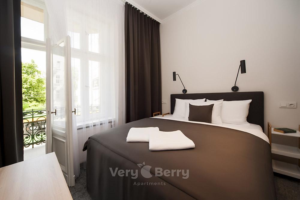 Apartament z balkonem Poznań ul. Głogowska blisko targów MTP Poznan i dworca PKP Poznań Główny- Very Berry Apartments (3)